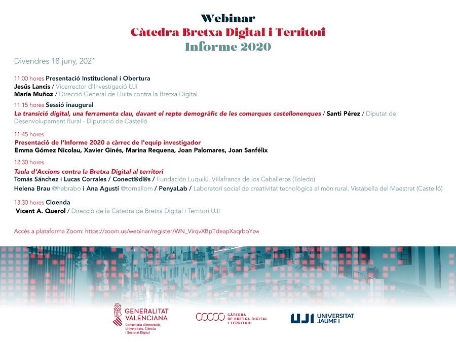 PenyaLab participa al webinar Càtedra bretxa digital i territori – Informe 2020